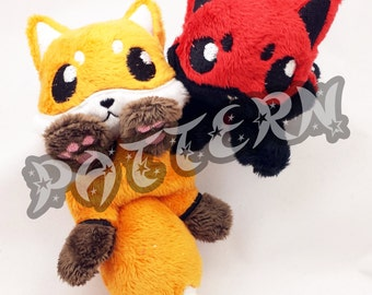 ITH PATTERN ~ In The Hoop Pattern for Micro Fox Beanie Plush - Embroidery File Project