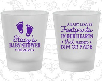 Baby Announcements, Baby Shower Shot Glasses, Gender Reveal Ideas, Baby Shower Glassware (90176)