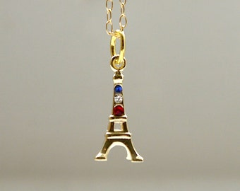 Eiffel tower necklace in gold
