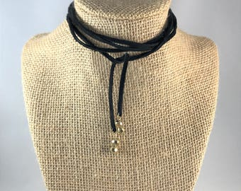 Choker Necklace/Leather/Create your own/Recycled leather/Gifts for her
