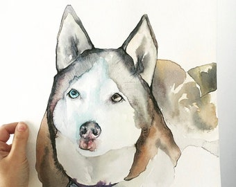 Custom Pet Portrait - Watercolor