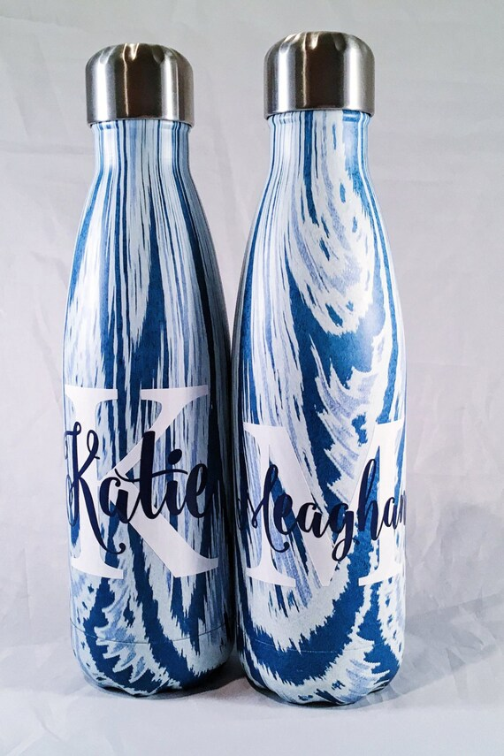 Custom Big Initial and Name Swell Bottle - Bridesmaids, Yoga, Teacher, Sorority, Personalized Swell, Custom Swell, Swell Bottle