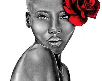 LIMITED EDITION PRINT - #14/40 - Uzuri (Red)