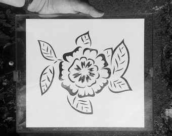 Floral papercut, cut by hand, original art.