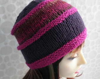 KNITTING PATTERN Womens Boho Knit Beanie Handmade Gift for Her Mom Sister Birthday Gift Instant Digital Download Unique Knitted Hat VERMONT