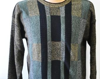 vintage 1980s Cellinni long sleeve sweater---size medium--mans sweater