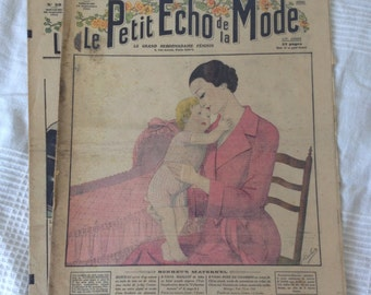 The small echo of fashion. Old french magazine