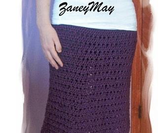 Casual Friday Skirt, Crochet Pattern in PDF