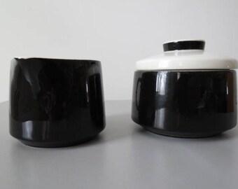 mikasa mediterrania black sugar and creamer set