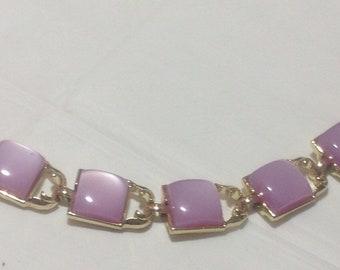 Vintage Pink Thermoset Link Bracelet