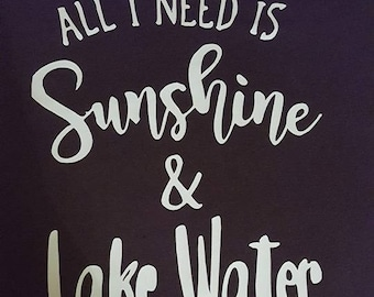 Sunshine and lake water