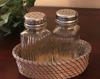 Southern Long Leaf Pine Needle Basket for Salt & Pepper