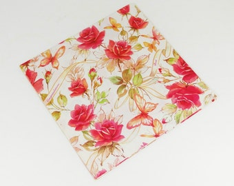 Vintage Gift Wrap - Roses Best Wishes Congratulations