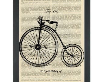 Vintage Penny Farthing Drawing