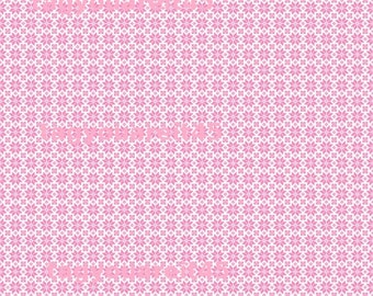 Pink Folk Pattern on White Cardstock Paper