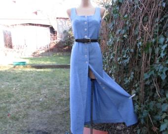 Dress Suit Vintage / Two Piece Suit / 2 PC Dress Suit / Blue Dress Suit / Size EUR44 / UK16