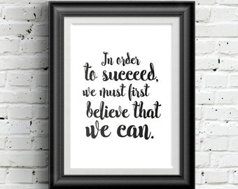 0157 Typographic Inspirational quote Print Wall Art Print Multiple Sizes