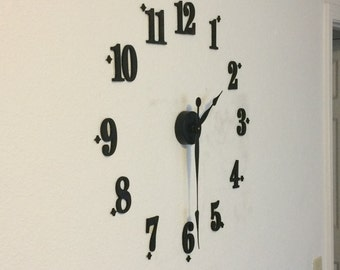 Large Wall Clock Kit with Raised Numbers - Pallet Clock - DIY - Spool Clock