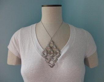 VINTAGE sarah coventry silver tone STATEMENT NECKLACE