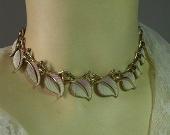 Vintage Rose Leaf Necklace