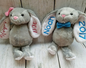Personalized Easter Bunny, Easter Bunny Plush, Custom Easter Bunny, Kids Easter Gift, Easter Basket Filler, Easter Bunny Stuffed Animal