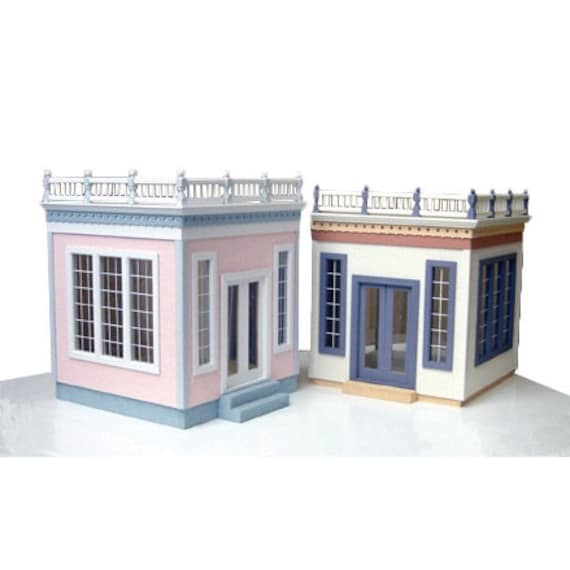Conservatory Addition/Wooden Dollhouse Kit, Scale One Inch