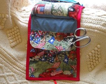Americana Sewing Caddy, Handwork Organizer SALE