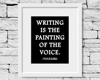 Writer Quotes, Writing Quotes, Writer Gifts, Voltaire Quotes, Voltaire Print, Writing Quote, Writer Quote, Gifts for Writers, Write Print