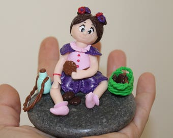 Alice Polymer Clay figurine