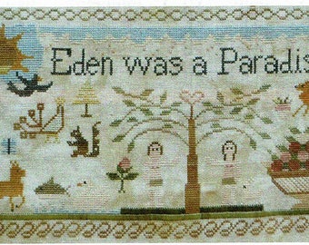 Adam & Eve by Shakespeare's Peddler Counted Cross Stitch Pattern/Chart