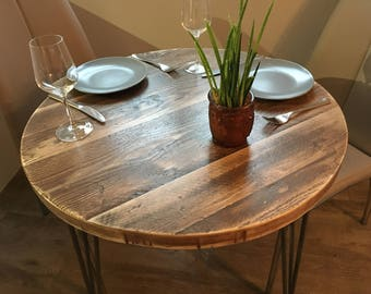 Modern Rustic Industrial Style Circular Table, Dining, Counter or Bar style