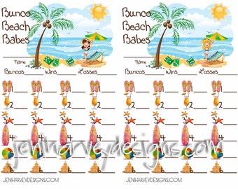 Bunco Beach Babes Score Card