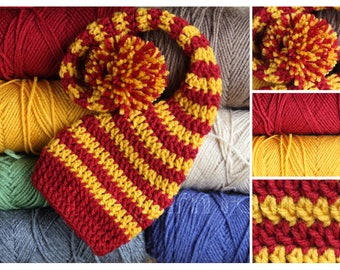 Crochet Newborn, Infant, Youth, Adult  Striped Elf Hat /  Stocking Hat
