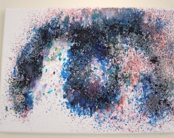 Black Friday | Cyber Monday | A4 Hand Painted Watercolour Abstract Canvas | Painting | Wall Art |  Gift Idea | Charity | Home Decor | Art