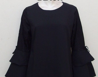 Lace Top Bell Sleeve
