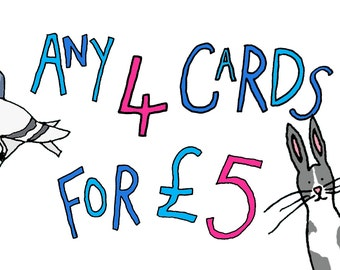 Illustration A6 Cards (Any 4 for discounted price)