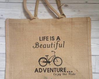Life is a beautiful adventure jute bag / shopping bag