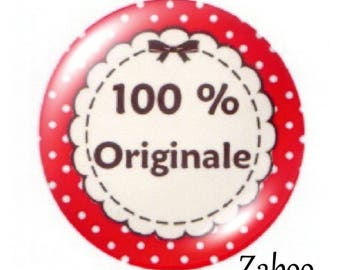 2 cabochons 25mm glass, 100% original, Red