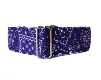 Purple Martingale Collar, 1.5 Inch Martingale Collar, Purple Dog Collar, Bandana Dog Collar, Preppy, Martingale Dog Collar