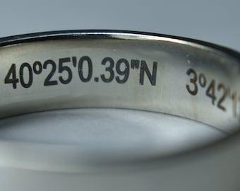 Professional Inside Ring Band Engraving, Inside ring engraving. Engraved Ring, Inside Engraved Ring. Engraved Wedding Ring