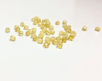 50 Light Colorado Topaz Glass Rounds, 4mm, Light Colorado, Colorado Topaz, Topaz, Glass Rounds, Round Beads, Rounds, Bead Supply, Crafts