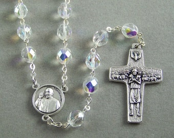 Pope Francis Rosary with Good Shepherd Cross (14)