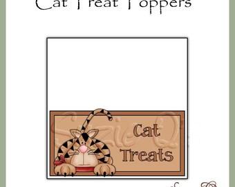 Cat Treat Topper - Digital Printable - Immediate Download