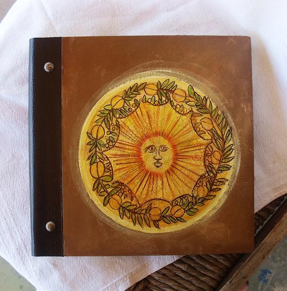 Photo Books, Photobook, Photo Album, Photo Album Book, Wooden Photo Album, Totally Handmade Album, Decorated Sun