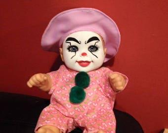 Creepy clown, creepy doll, creepy baby, horror doll, Halloween prop