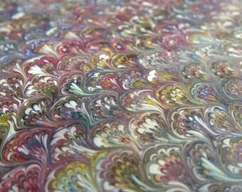 Paper marbling 48 x 68 cm inkjet shore tradition 120 grams - 4