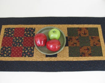 """Quilted Table Runner, Patchwork Table Runner, 16 1/2"""" X 34"""""""