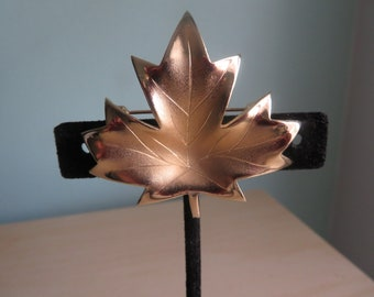 Vintage Rare Marcel Boucher for Avon, Canada No. 1237 Gold Tone Plated Leaf Pin Brooch