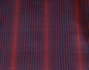 Vintage Japanese Silk Kimono Fabric Slim Stripes