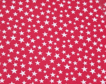 """Red with White Stars, 44-45"""" Wide Cotton Fabric, Made in U.S.A., American Flag - By the Half Yard"""
